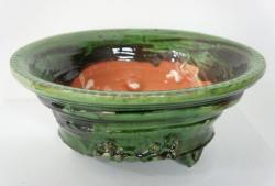 < スペイン鉢 ( ガレナ釉 )>鯉江良二 1990, ceramics, 30 x 29 x 13cm