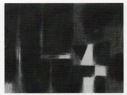 住谷重光「水のかたち」 木炭 570×765mm
