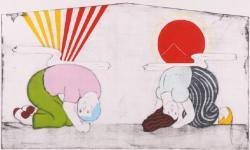 田嶋健 《れんあいじょうじゅ》 2010年 須坂版画美術館蔵