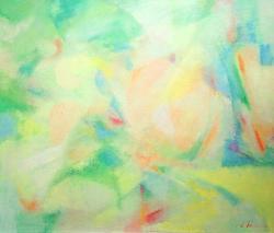案内状作品 「いとおしむ」 F10 油彩、キャンバス