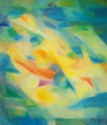 展示作品 「やすらぎ」油彩、キャンバス(F10