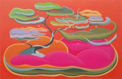 「庭島(glowing)」 1200 ×1830mm 油彩 2012年