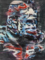 """Tatjana Doll """"CBL_Refrection 1.33"""" 2013 enamel, vinyl on canvas 160x120 cm"""