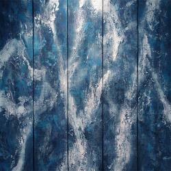 案内状作品 「水の情景 II」 ミクストメディア 90.2cm × 90.7cm