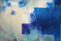 案内状作品「青の記憶」F120