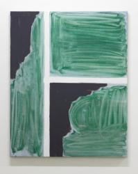 """「隅」2013年 アクリルウレタン、麻布 119×96×3.3 cm """"corner"""", 2013 acrylic urethane on canvas 119×96×3.3cm"""