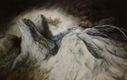 Ambigous  Traverse oil  on   canvas 2019 145.5cm×227.3cm