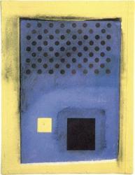 若林奮 WAKABAYASHI Isamu   Sulphur Drawing No. 1  1990 硫黄、グワッシュ、木炭、紙 100×79×1.8cm