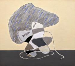 Hiro Tsuchiya, 外枠について, 2019, Acrylic and oil on canvas, 45.5 x 53 cm