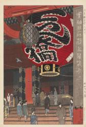 笠松紫浪《 浅草観音堂大提灯 》 1934(昭和9)年 山梨県立美術館蔵