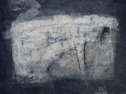 「命」 56cm×43cm 和紙、顔料、墨