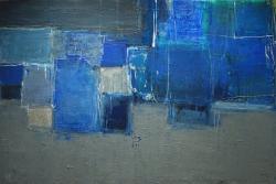案内状作品 「Indigo・BLUE」 P80号