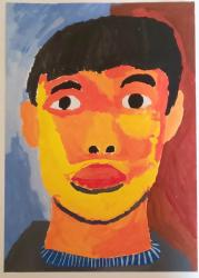 「自画像」中学三年生の作品