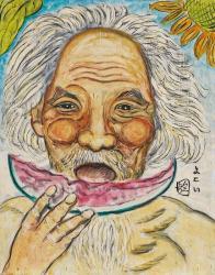 横井弘三《自画像》 制作年不詳 個人蔵