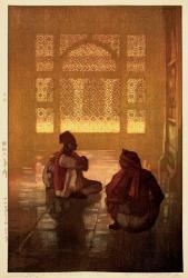 《印度と東南アジア フワテプールシクリ》 昭和6(1931)年 木版 個人蔵