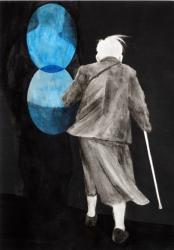 Mari Ota his mom  2016  watercolor on paper  34.0x23.8cm