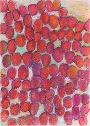 辰野登恵子 「March-3-96」 1996 紙、パステル 90×66cm ©2015 HIRAIDE Rieko